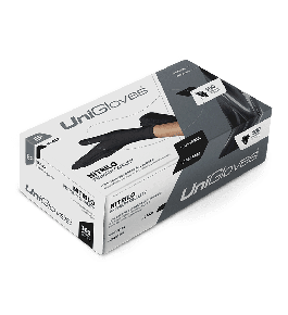 Luva Unigloves - Nitrilo Black