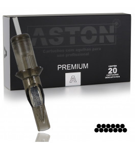 Cartucho Aston Premium - Pintura Curvada RM - De 07RM a 17RM - 035mm - Caixa com 20 Unidades